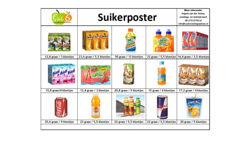 Suikerposter dranken